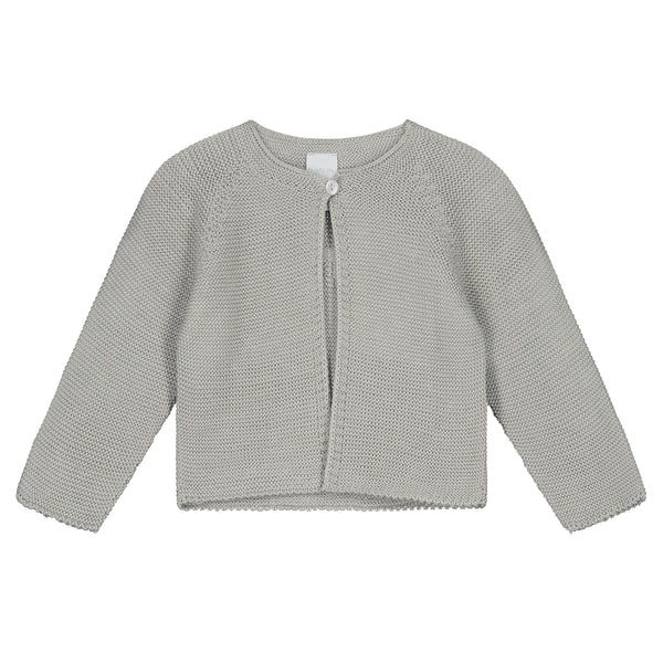 WARM GREY KNITTED CARDIGAN