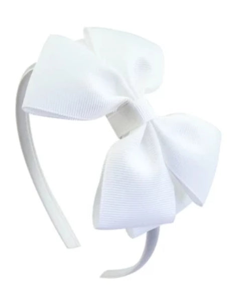 WING BOW DIADEM - White