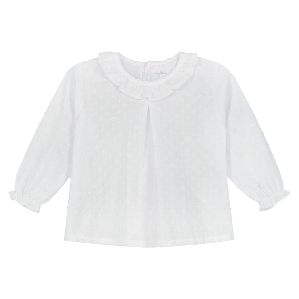 WHITE PLUMETI BLOUSE