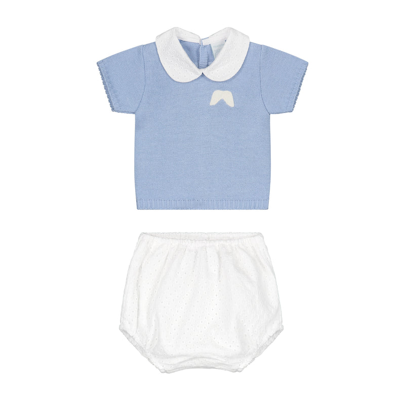 CELESTE BLUE KNITTED SET