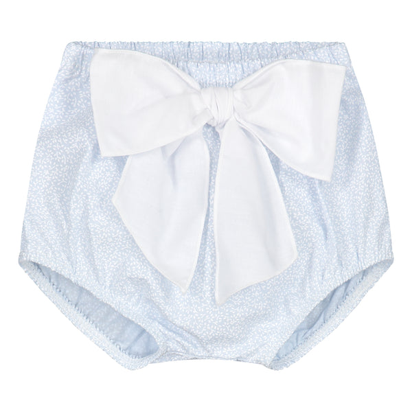 CELESTE BLUE BLOOMER WITH WHITE BOW