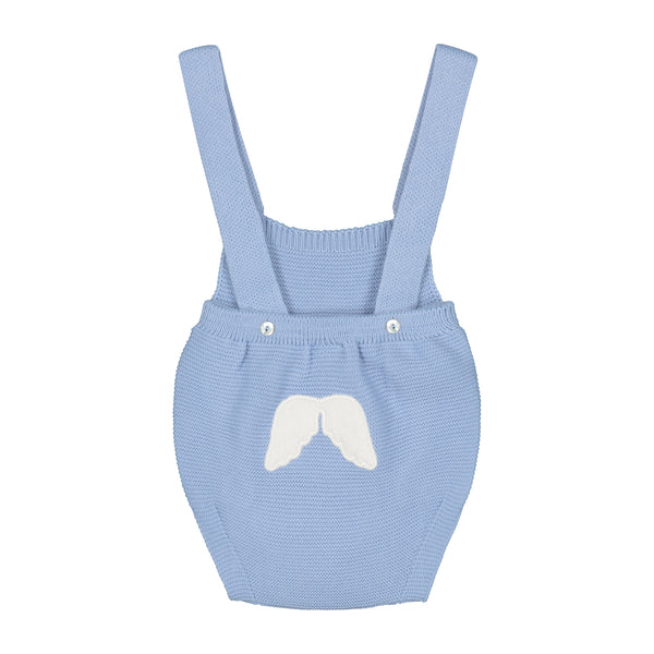 CELESTE BLUE KNITTED DUNGAREE