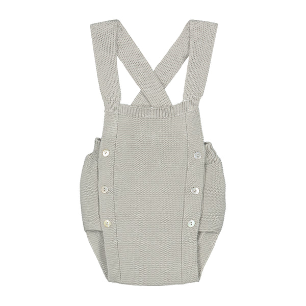 WARM GREY KNITTED DUNGAREE