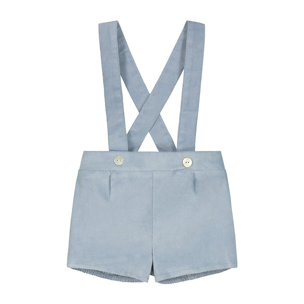 DUSTY BLUE SHORT WITH BRACES