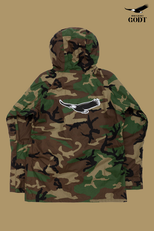 Big Evil Combat Jacket – Woodland Camo