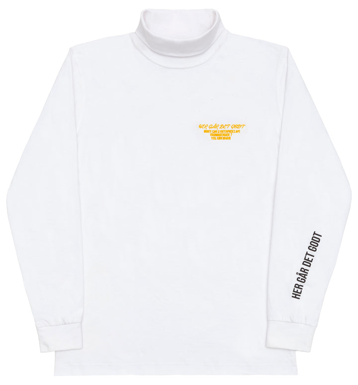 HGDG SNEEZE TURTLENECK WHITE