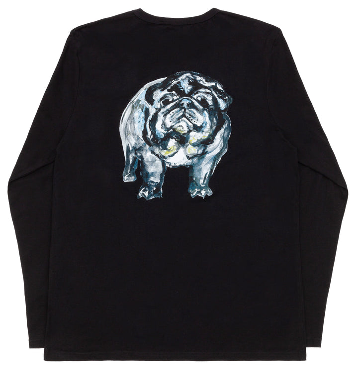 Svend Mops Tribute / Black Long Sleeve T-Shirt