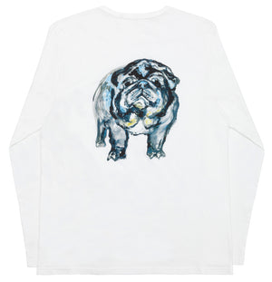 Svend Mops Tribute / White Long Sleeve T-Shirt
