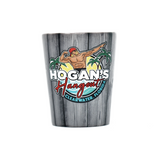 Hogan's Hangout Collectible Beach Wood Shot Glass