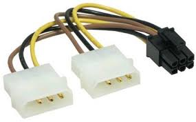 Molex Dual 4 Pin to PCI-E 6 Pin  Power cable