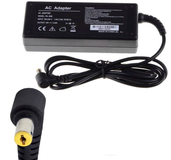 For Acer 90w 19V 4.74A 5.5*1.7 yellow tip laptop charger AC Adapter