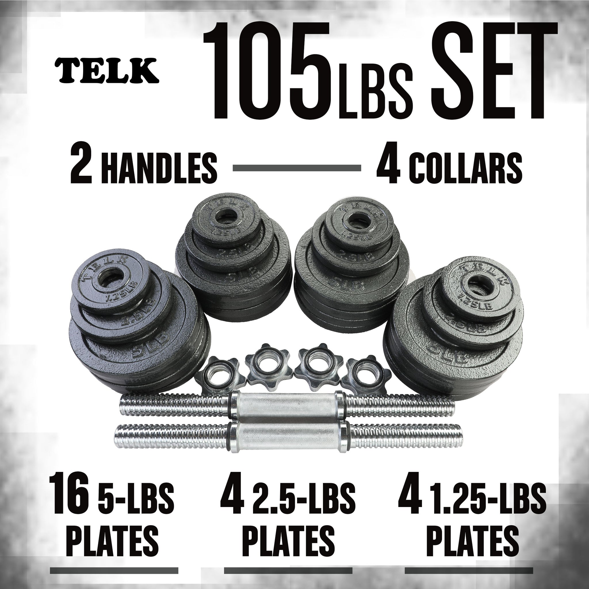 Adjustable Dumbbells 105 lbs