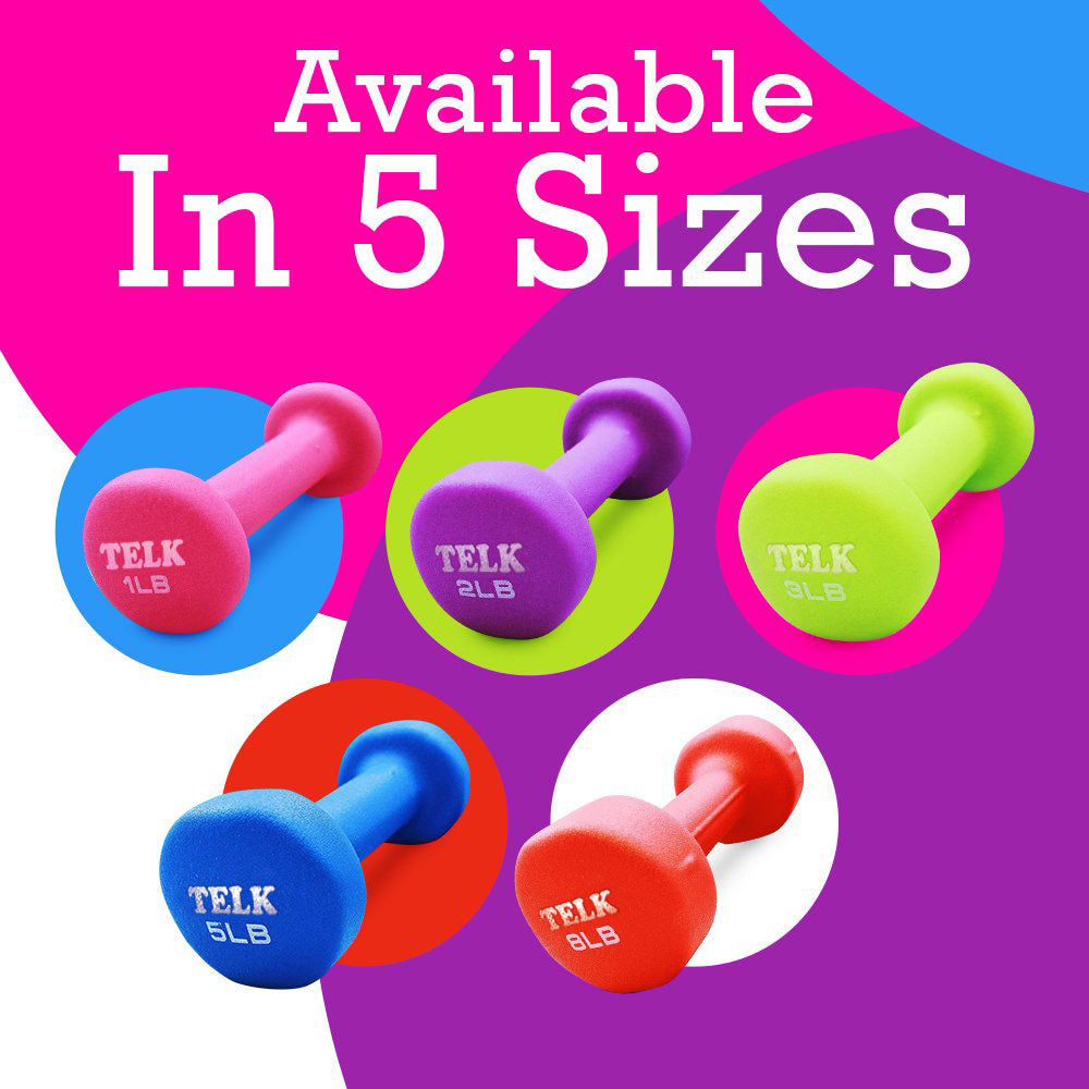 Neoprene Coated Deluxe 4 Lb Hand Weights