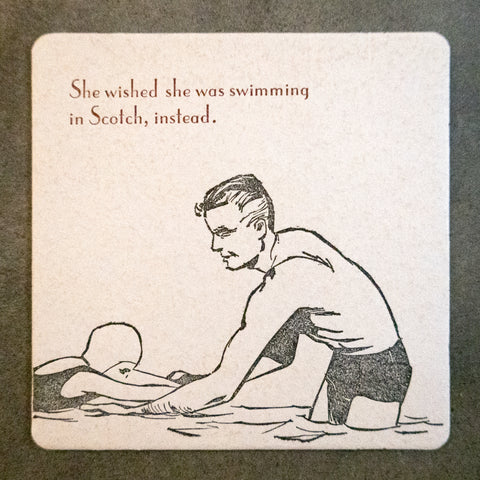 """Swimming in Scotch"" Coaster (Set of 4)"