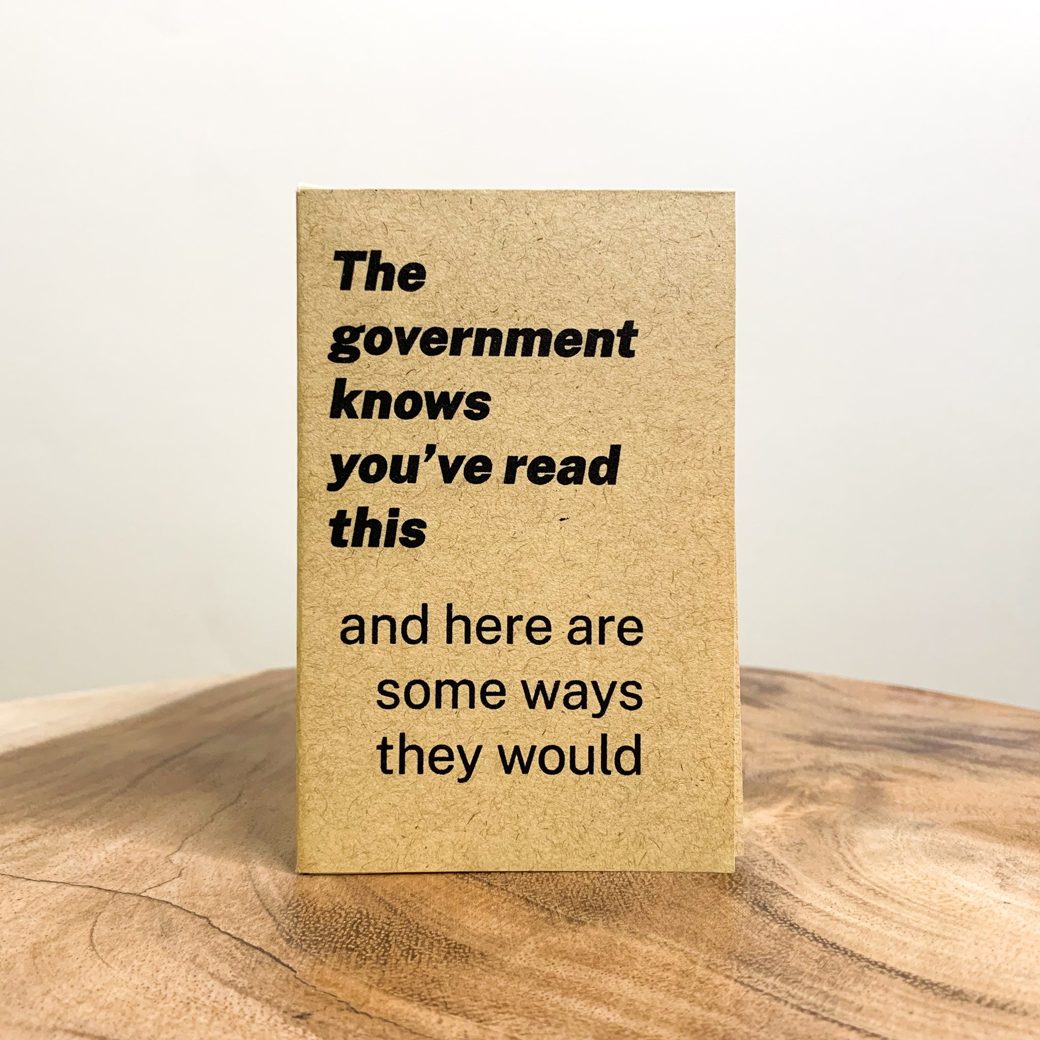 The Government Knows You've Read This
