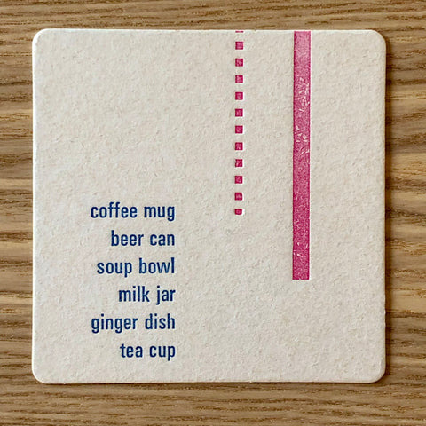 """Stuff You Put On"" Coasters (Set of 4)"