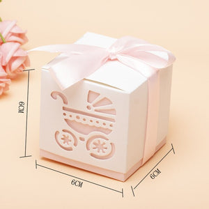 10pcs Mini baby cart Candy Boxes Chocolate Box for Baby Shower Gift Box Birthday Wedding Party Favor Box Baby birthday gifts 5z - Alldica