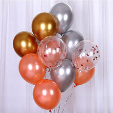 Load image into Gallery viewer, 12pcs/lot Metallic Gold Silver Rose Gold Latex Balloon Wedding Valentine's Day Decoration Confetti Balloons Birthday Party Deco - Alldica