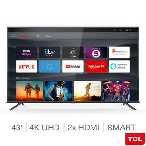 TCL 43EP648 43 Inch 4K Ultra HD Smart TVTCL 43EP648 43 Inch 4K Ultra HD Smart TV - Alldica