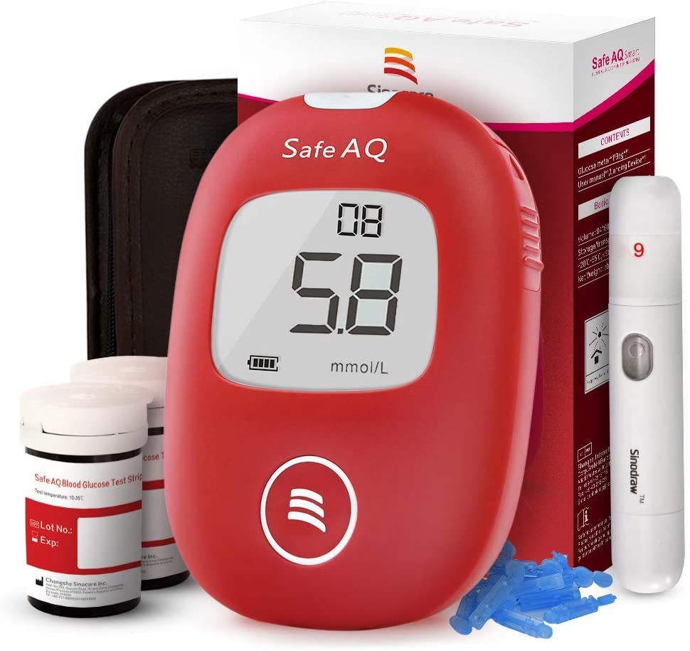 Diabetes Test Kit 2019 Upgrade with Voice Reminder and Light Warning - Alldica