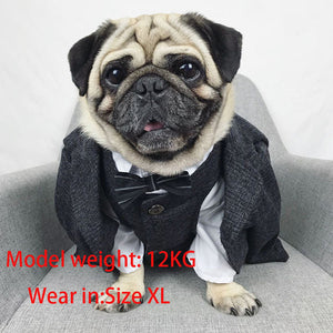 Formal Dog Clothes Wedding Pet Dog Suit Pets Dogs Clothing For Dogs Pets Supplies Xs-xxl Pet Apparel Puppy Outfit Pug Bulldog - Alldica