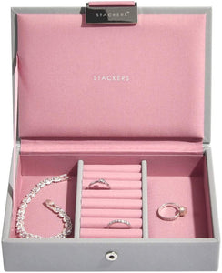 Stackers Blush Pink Mini Jewellery Box Lid - Alldica