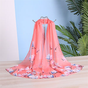 Women Spring Summer Silk  Chiffon Scarves