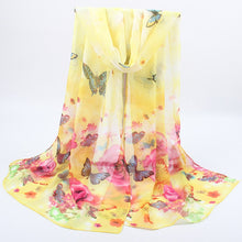 Load image into Gallery viewer, Women Spring Summer Silk  Chiffon Scarves