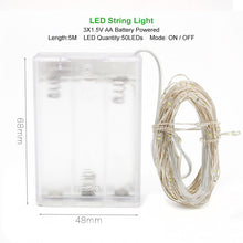Load image into Gallery viewer, 1M 2M 3M 5M 10M Copper Wire LED String lights Holiday lighting Fairy Garland For Christmas Tree Wedding Party Decoration - Alldica