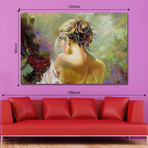 Oil Painting Hand Painted - Abstract Modern Rolled Canvas - Alldica