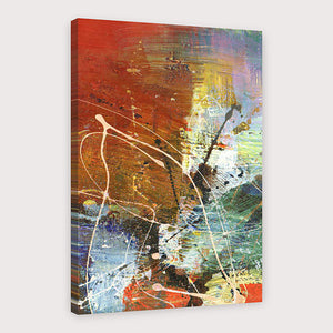 Oil Painting Hand Painted - Abstract Modern Stretched Canvas - Alldica