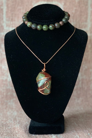 Dragon Blood Jasper Set