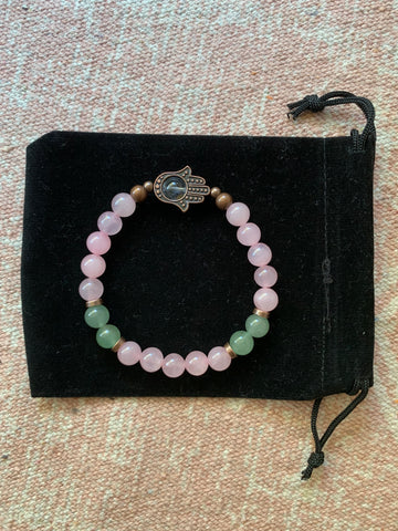 Large Rose Quartz Bracelet