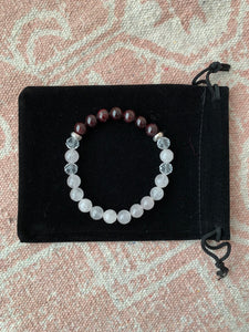 Garnet with Rose Quartz Bracelet