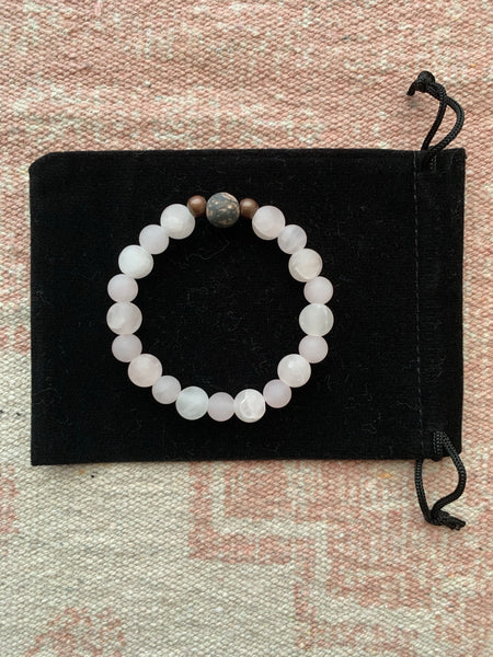 Rose Quartz with Rhodonite Bracelet