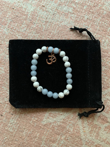 Angelite with Howlite Bracelet
