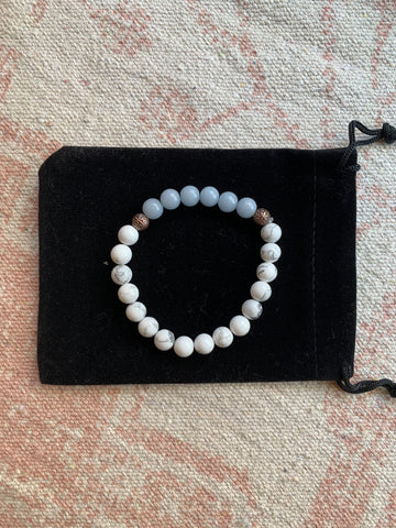 Howlite with Angelite Bracelet