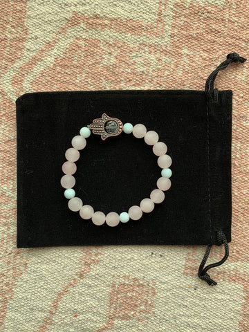 Rose Quartz with Amazonite Bracelet