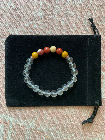 Clear Quartz with Mookaite Bracelet