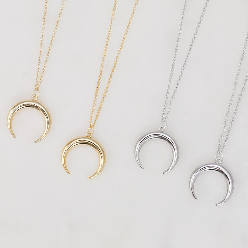 The Gold Crescent Moon Necklace
