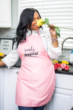 "Load image into Gallery viewer, ""Simply Magical"" Pink Apron"