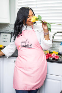 """Simply Magical"" Pink Apron"