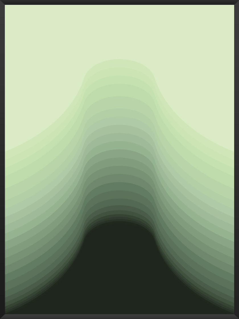 Smooth Silhouette - Green Lines Poster