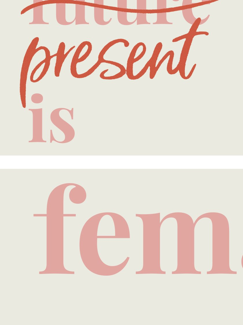project-nord-the-present-is-female-typography-poster-closeup