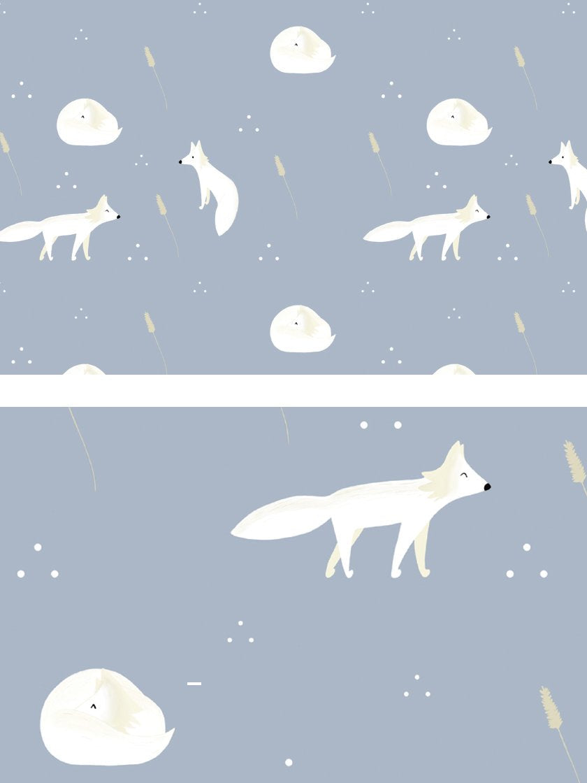 project-nord-white-foxes-minimalist-kids-poster-closeup