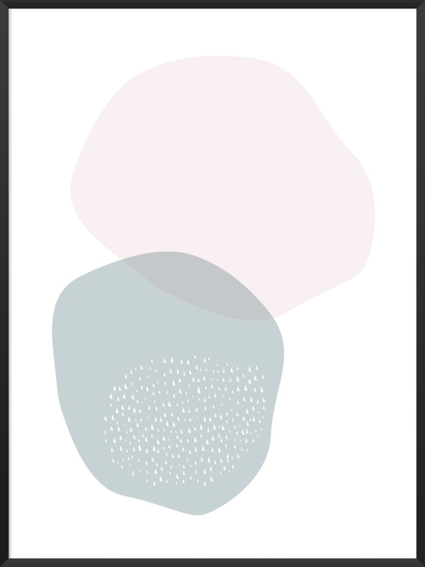 Project Nordのポスター BLUE AND PINK CIRCLE PASTEL SHAPES