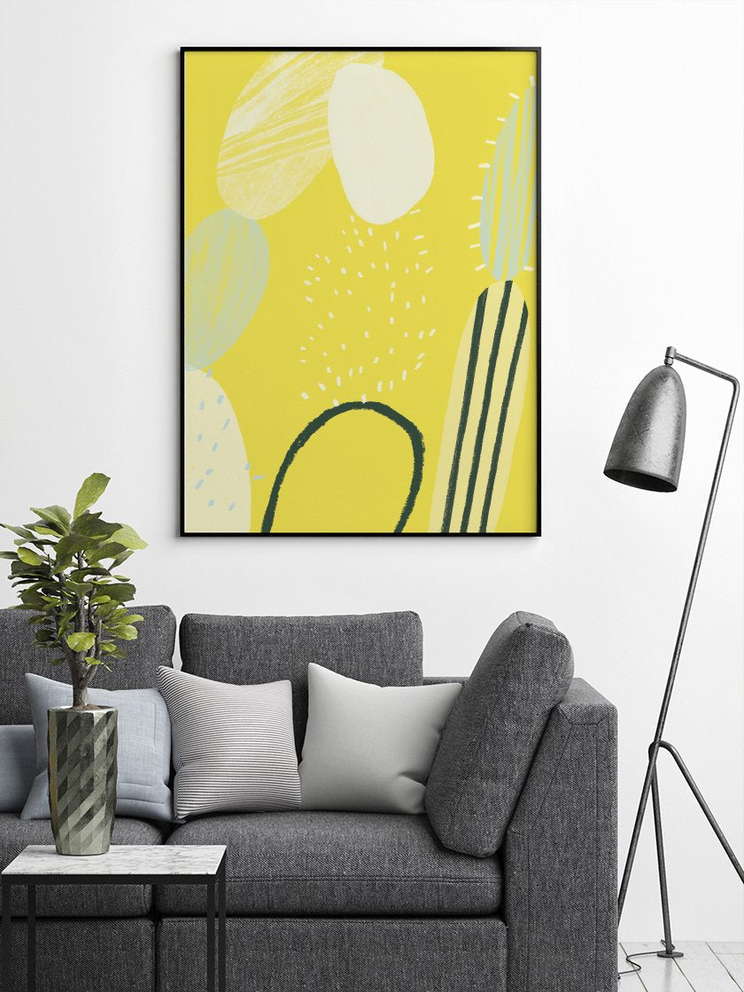 project-nord-abstract-cactus-poster-in-interior-living-room