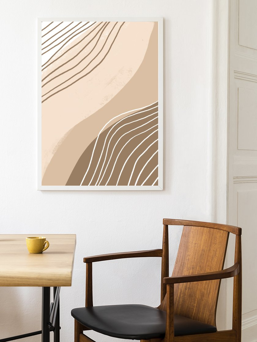 project-nord-beige-lines-poster-in-interior-living-room