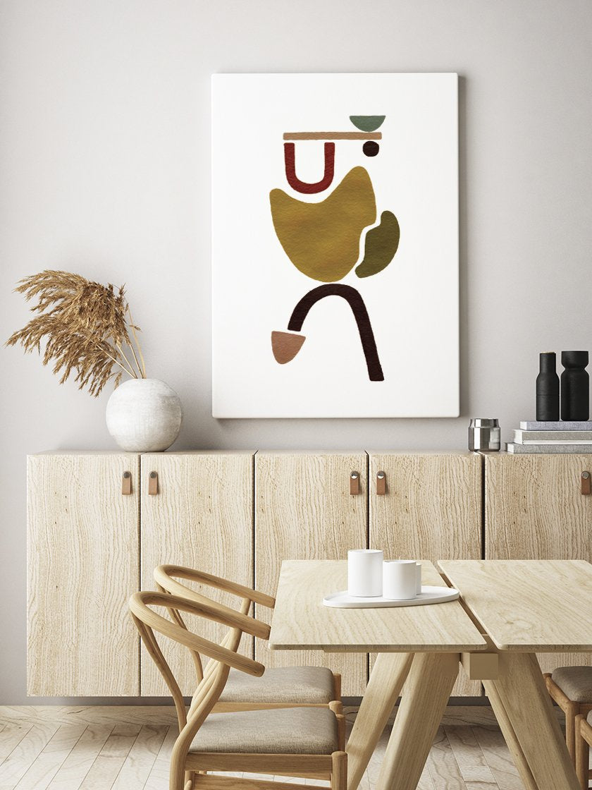carrying-hand-painted-abstract-poster-in-interior-dining-room