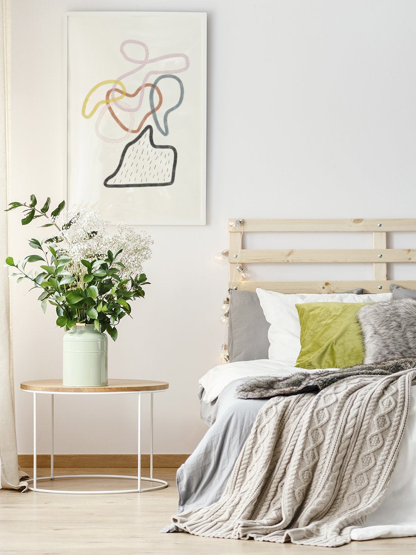 colourful-connections-abstract-art-poster-in-an-interior-bedroom